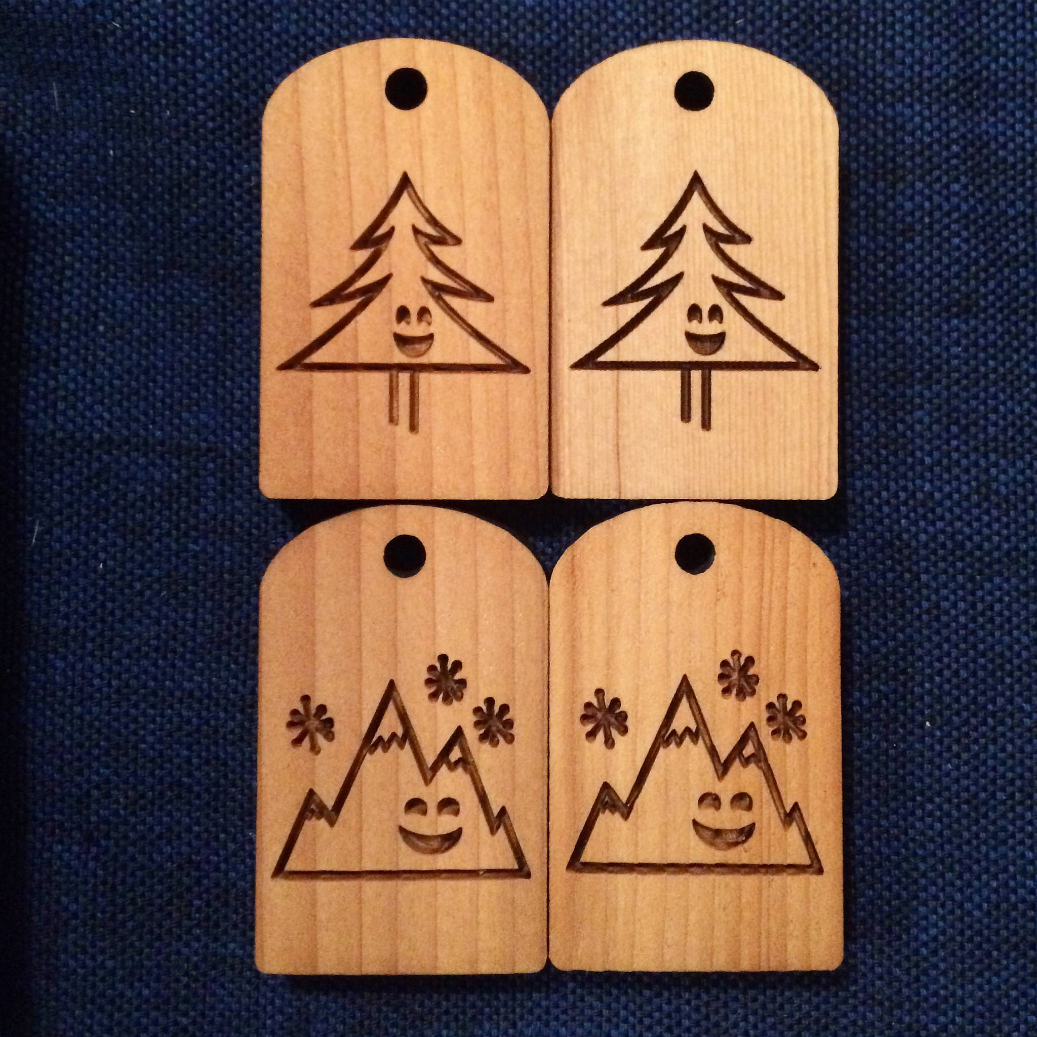 "We've expanded on our ""Happy"" line - meet Happy Mountain and Happy Tree. They were a bit hit with our stockists."