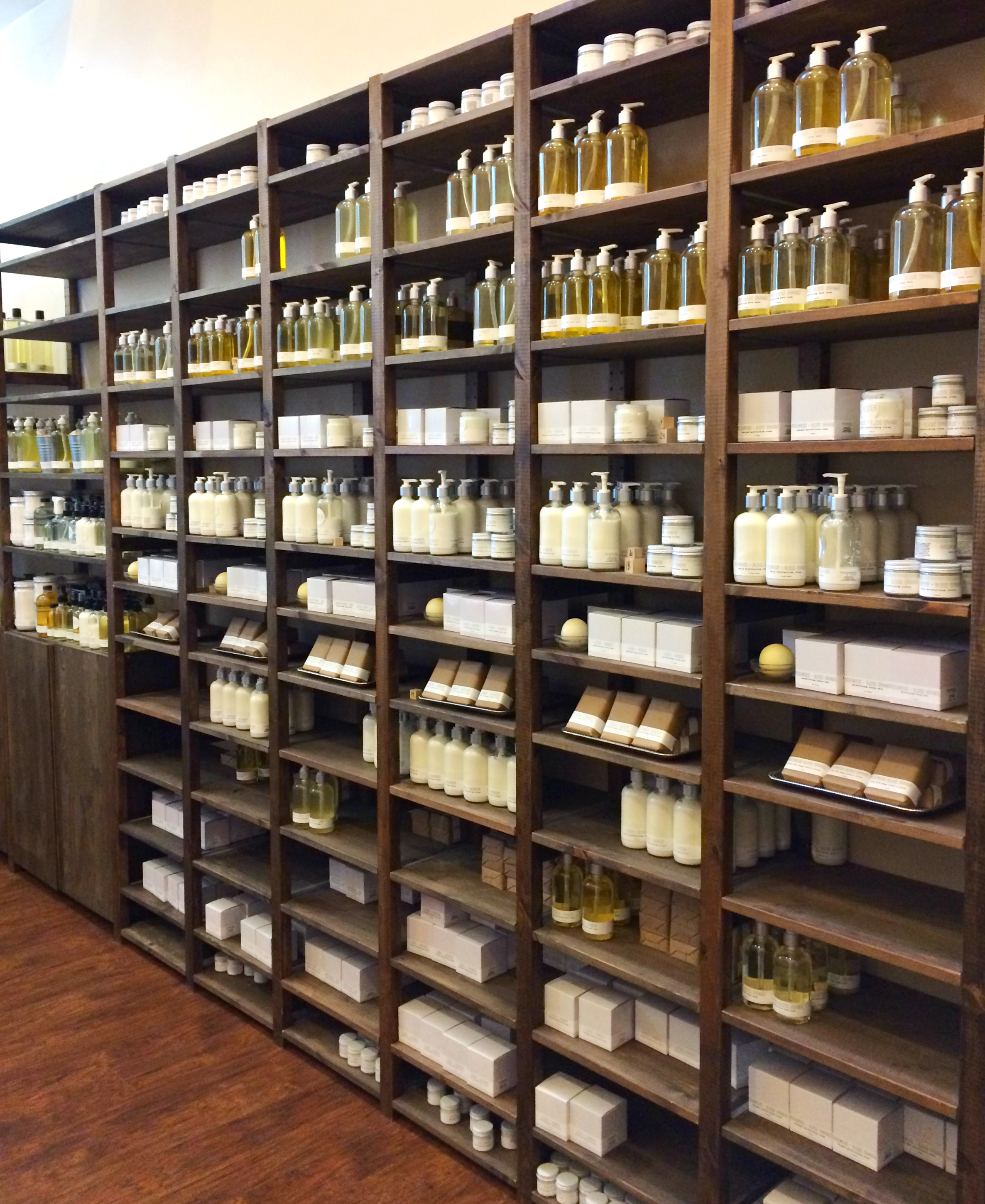handmade. la conner shelves filled with goodness!