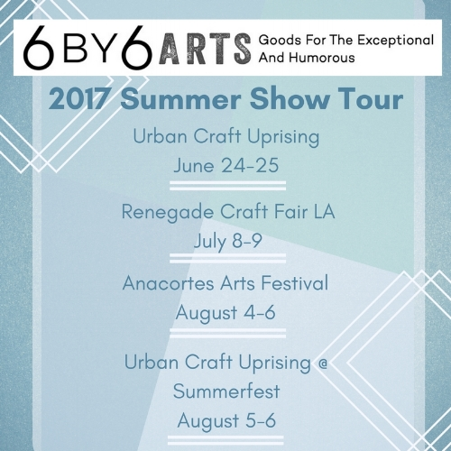 6 by 6 Arts 2017 Summer Show Tour
