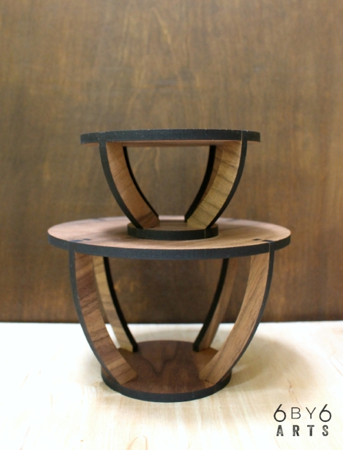 Walnut Wood Indoor Plant Stands | 6 by 6 Arts