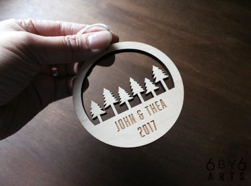 Personalized Custom Ornament | 6 by 6 Arts