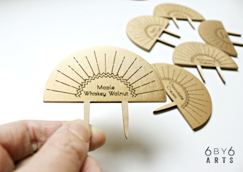 Custom Pie Toppers - 6 by 6 Arts