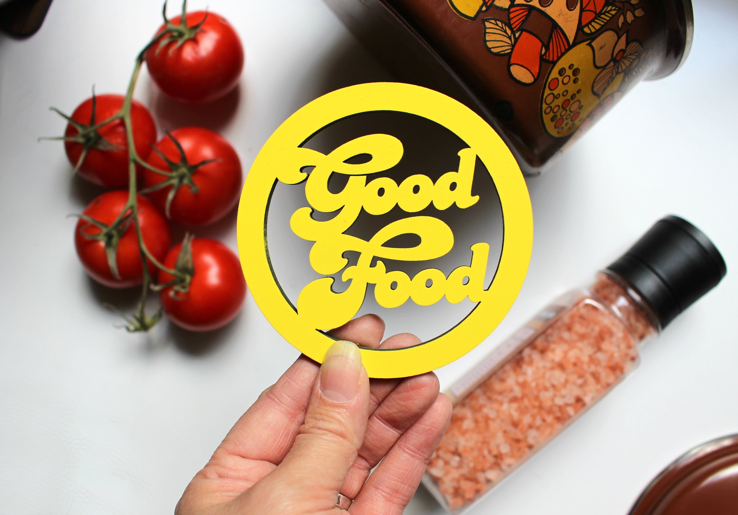 Good Food magnet by 6 by 6 arts