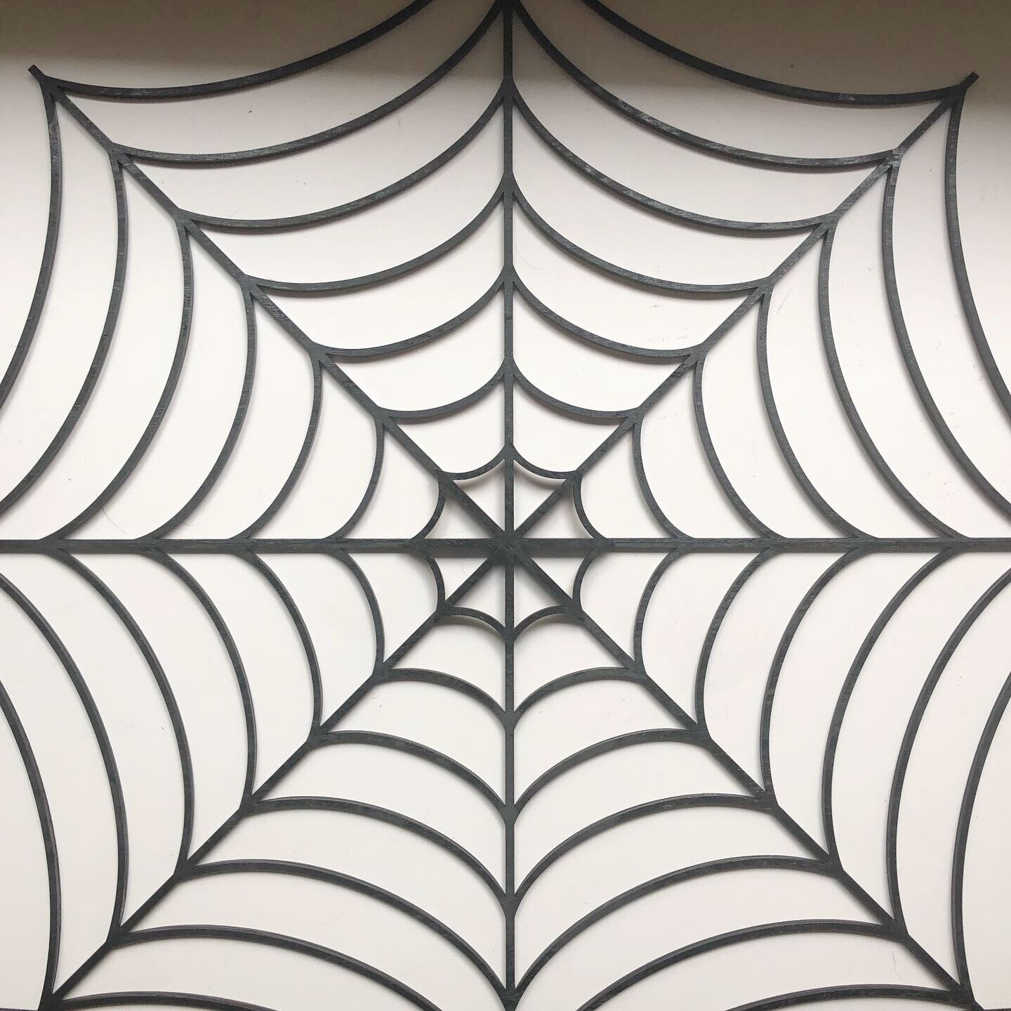 Laser cut spiderweb wreath - 6 by 6 Arts