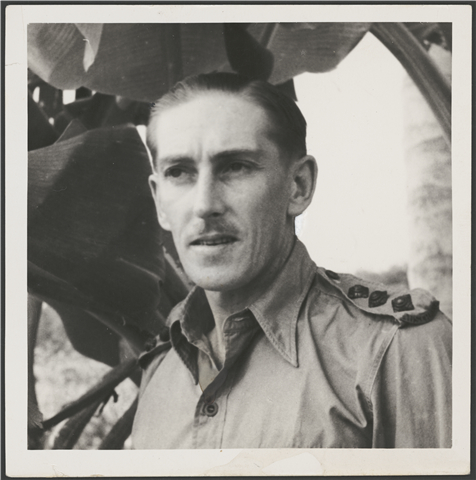 Captain Leslie Greener in Malaya, 1941 (Courtesy National Library of Australia)