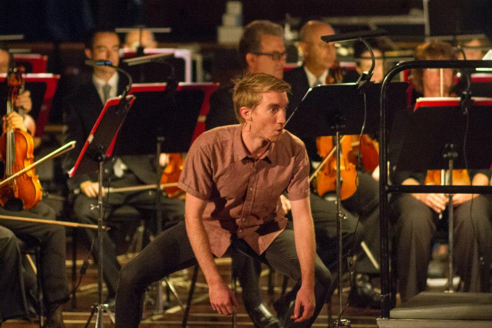 Cole Jenkins with the NZSO performing 'The Happiness Box', 13 May 2015