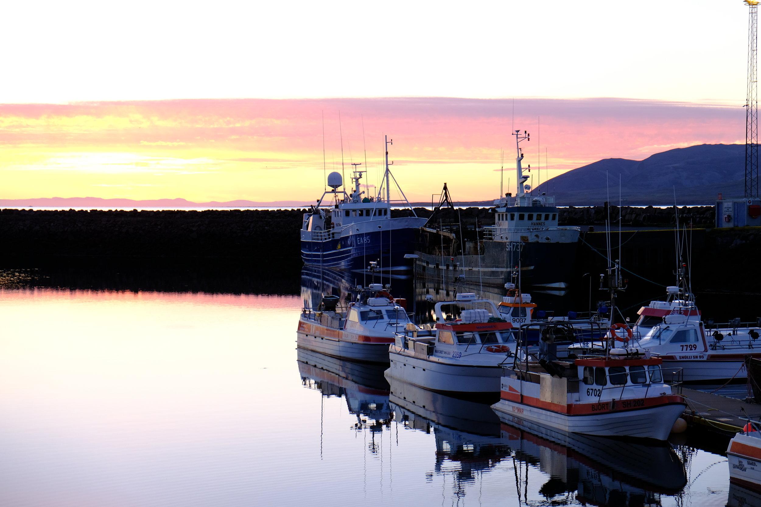 Harbor near Kirkjufell