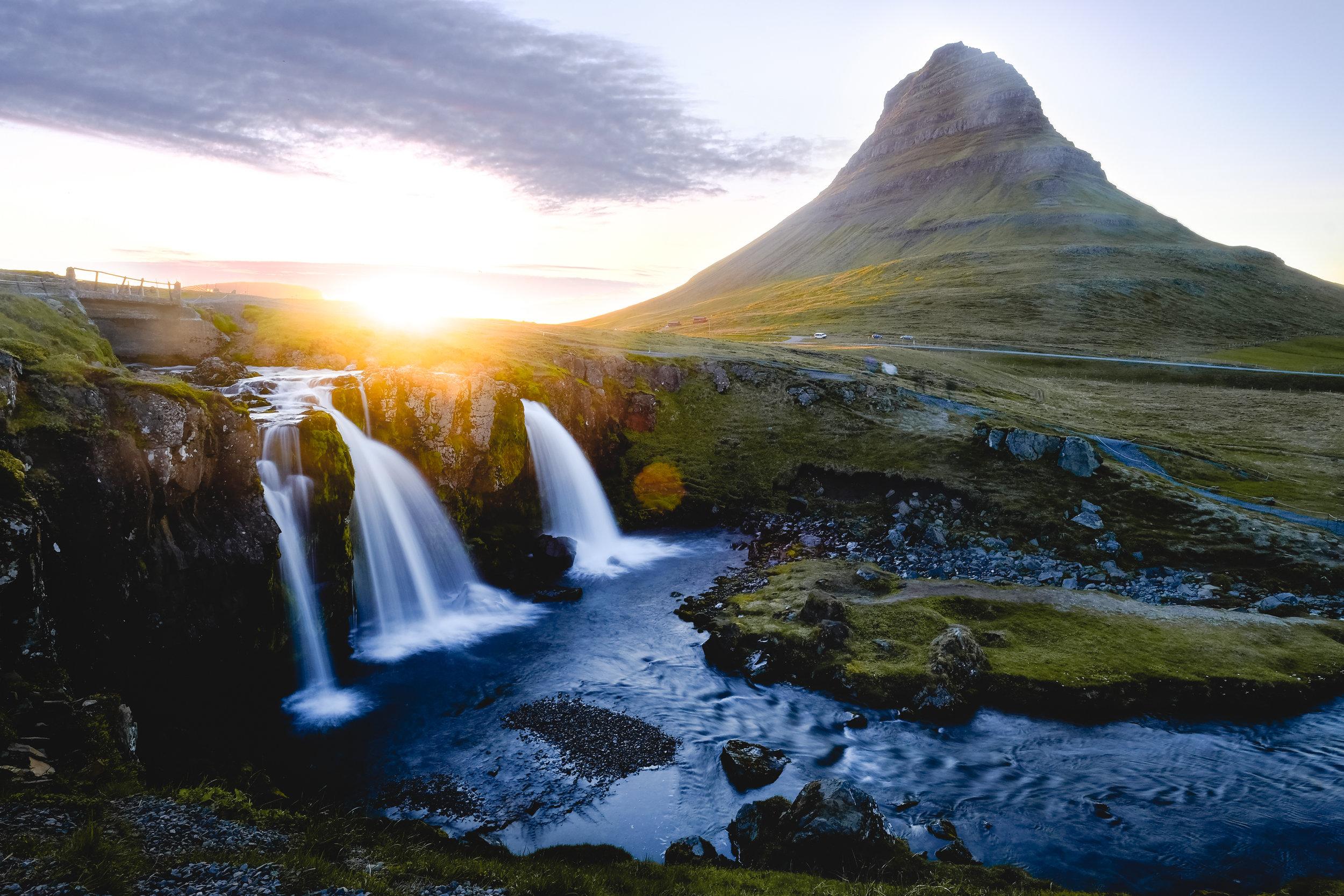 Kirkjufell mountain and falls