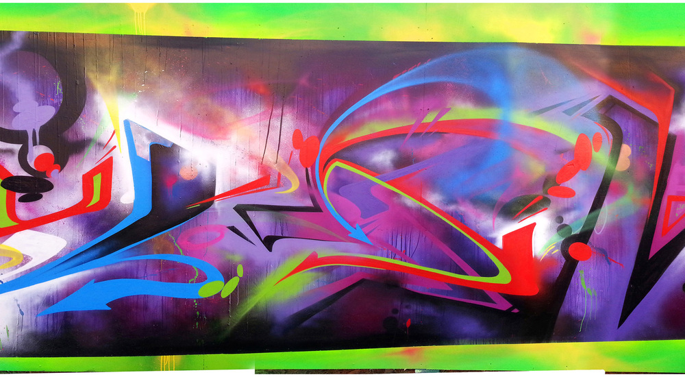 """A slice of """"Quantum"""", from 2013, East Palo Alto, CA."""