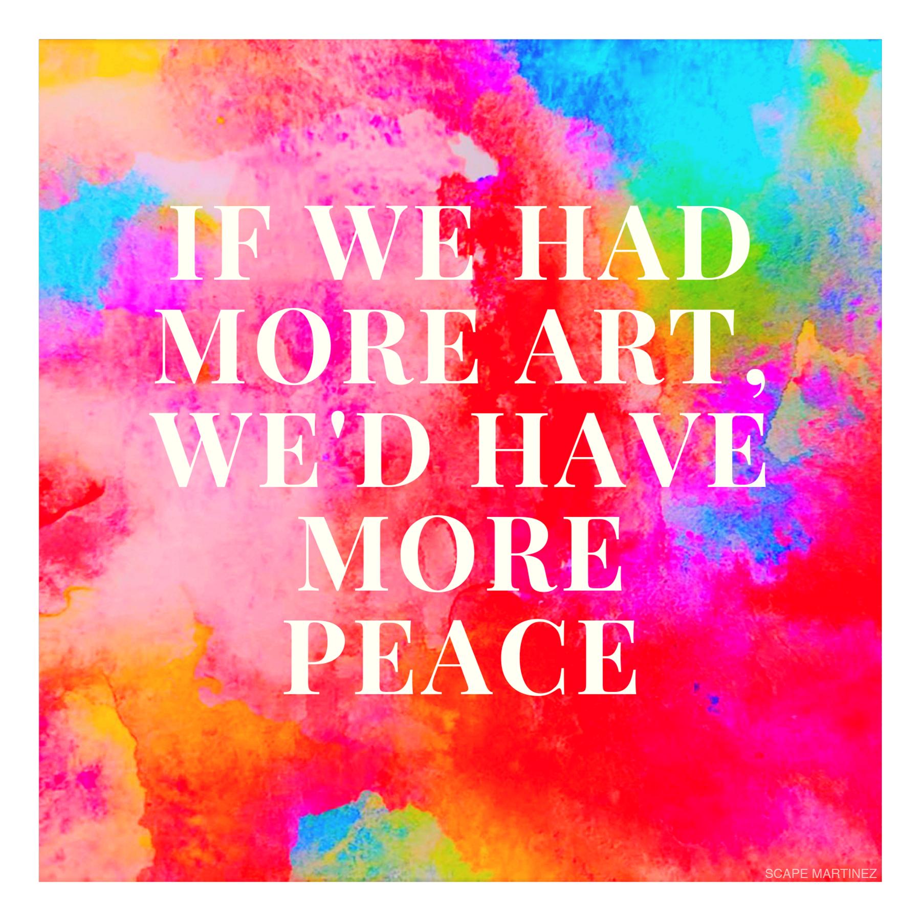 More Art = More Peace