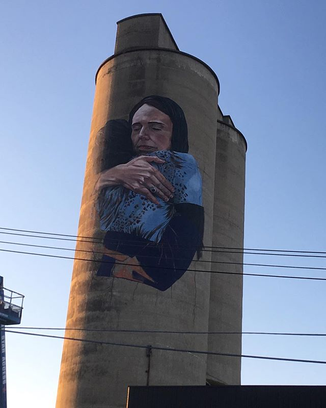 This pretty nice thing is being painted right now on the silos off Tinning St, Brunswick.