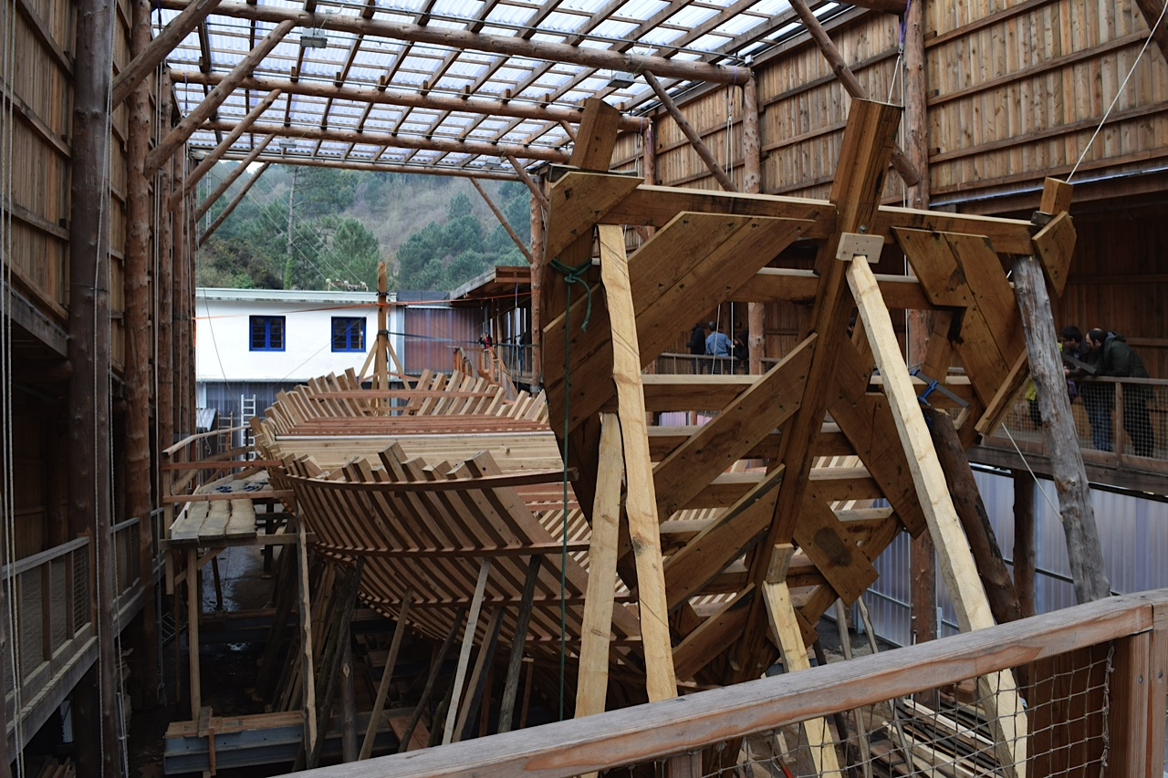 San Juan replica under construction in Basques country