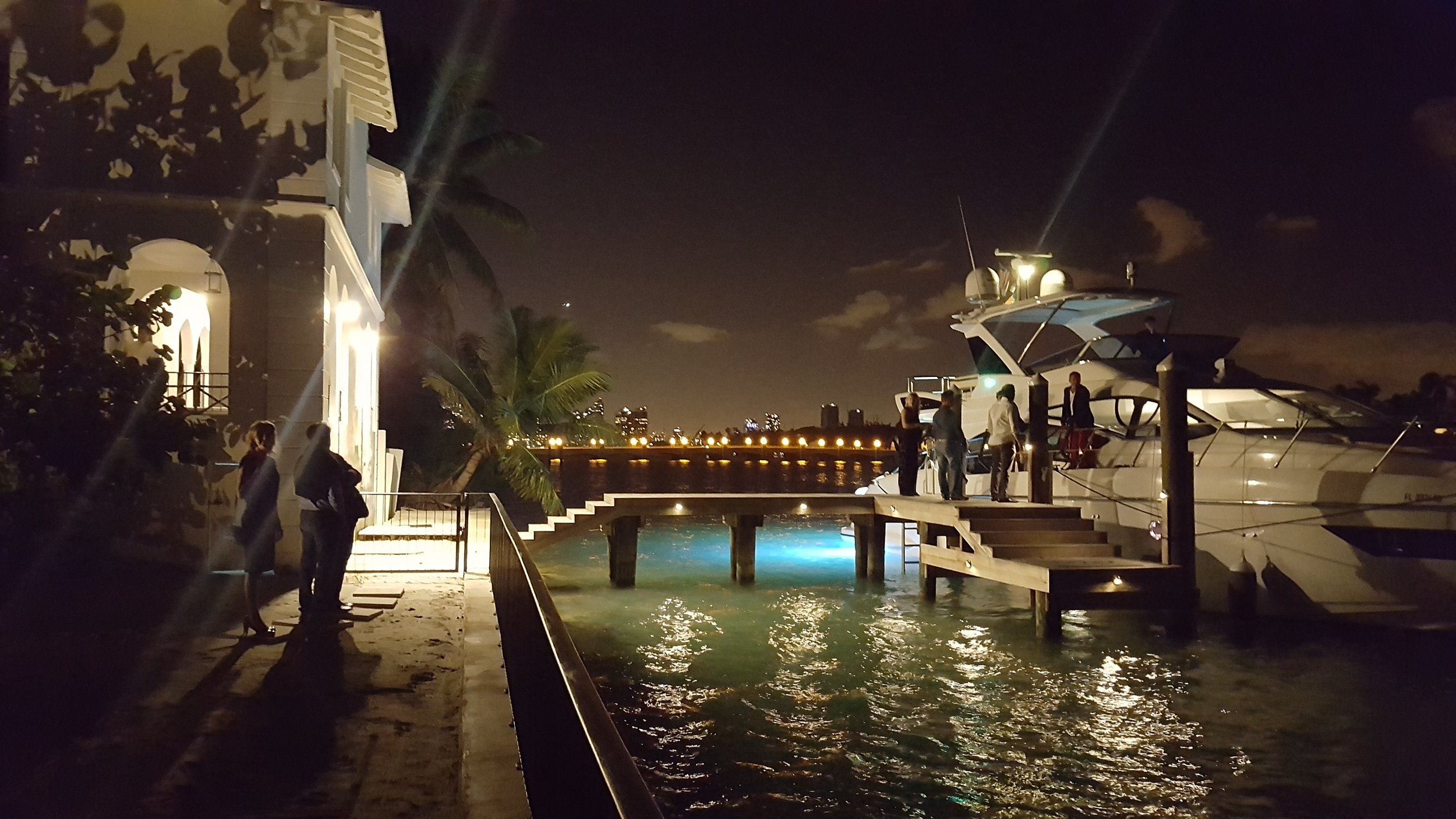 Dock area at 93 Palm, former home of Al Capone.