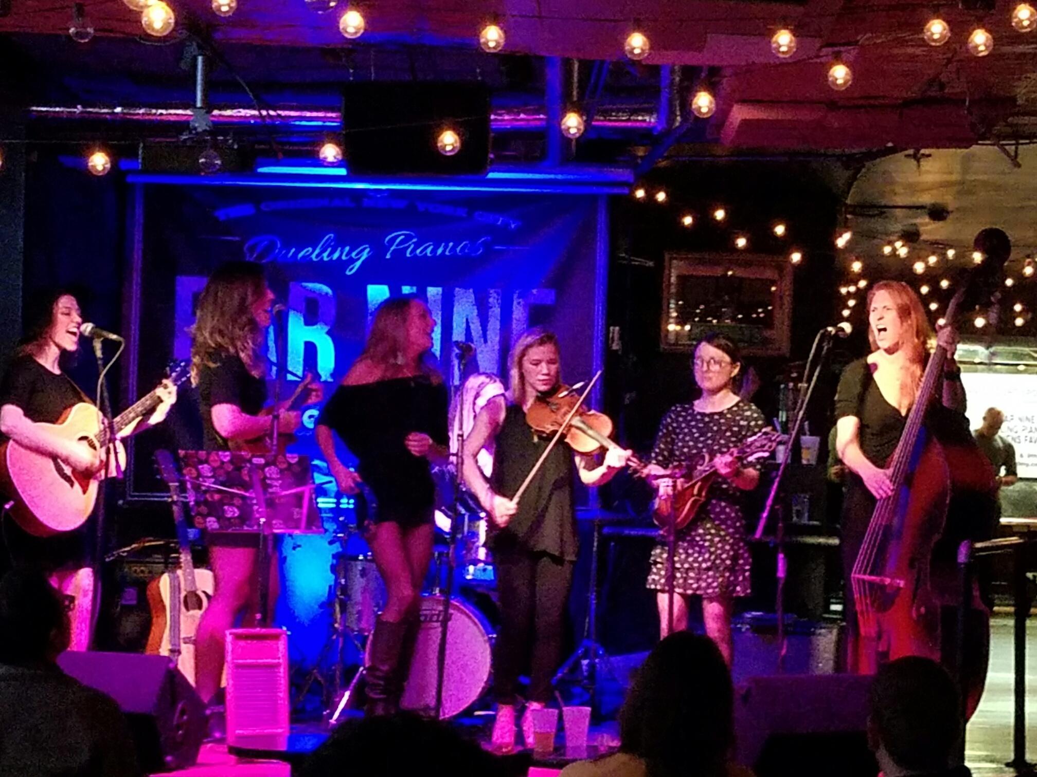 Bar 9 in Hell's Kitchen  with Aubrey Gallegos, Courtney Cowart, Susan O'Dea, Margaret Desiree-Mug, and Marcy McGuigan