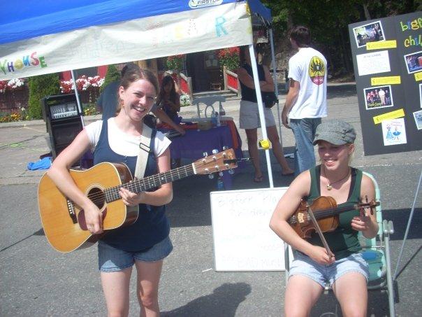 Brook sisters as teens performing at festivals
