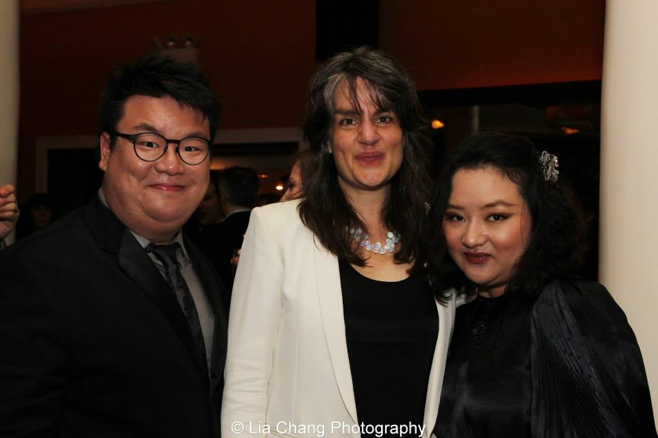 With Directors Pam MacKinnon and Emily Luo Yu at the Drama Desk Awards after party. (2013)