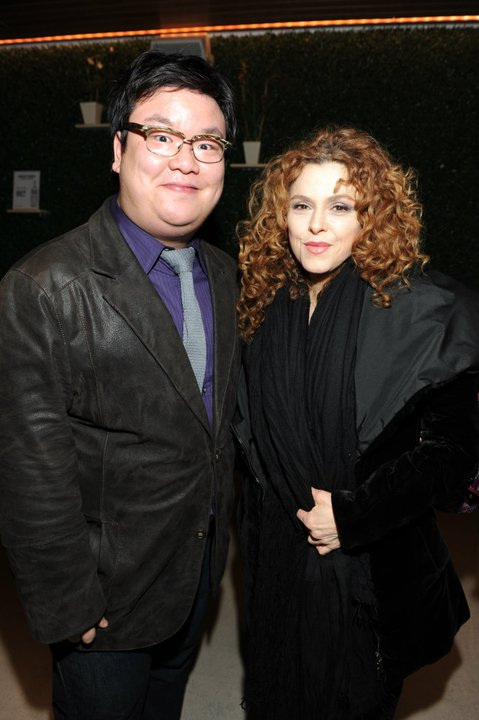 With the stunning Bernadette Peters at the New Group's opening for Blood from a Stone. (circa 2010)