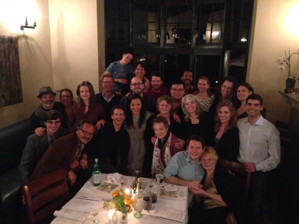 Group Pic after the 2014 Berkeley Rep Passover Dinner hosted by Rabbi Tony Kushner.