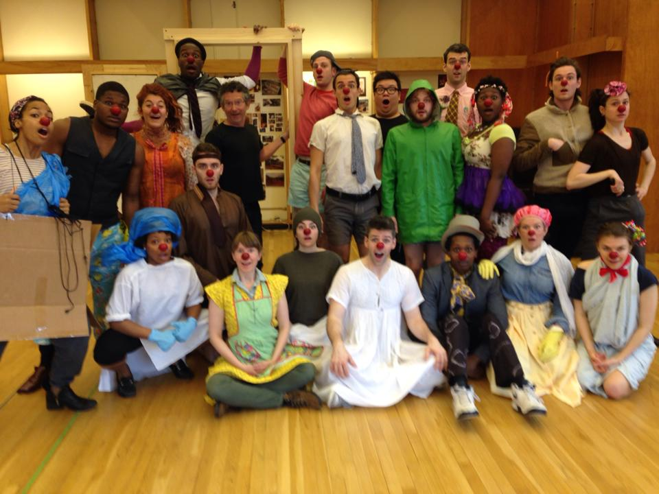 Last day of Clown Class with Christopher Bayes at Yale School of Drama for the semester!! (2014)