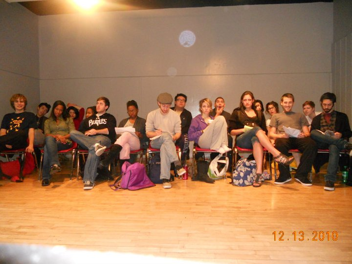 Waiting to start Terry Knickerbocker's Meisner class at NYU Tisch. (2010)