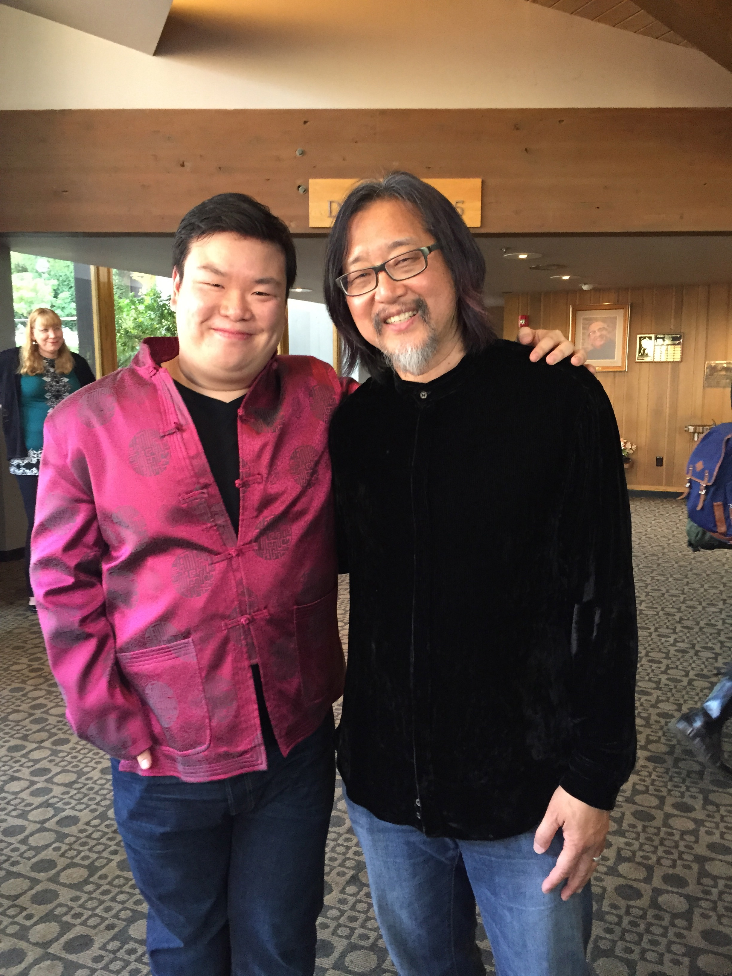 With Director Stan Lai Sheng Chuan (賴聲川)after the Opening of Secret Love in Peach Blossom Land at Oregon Shakespeare Festival. (2015)
