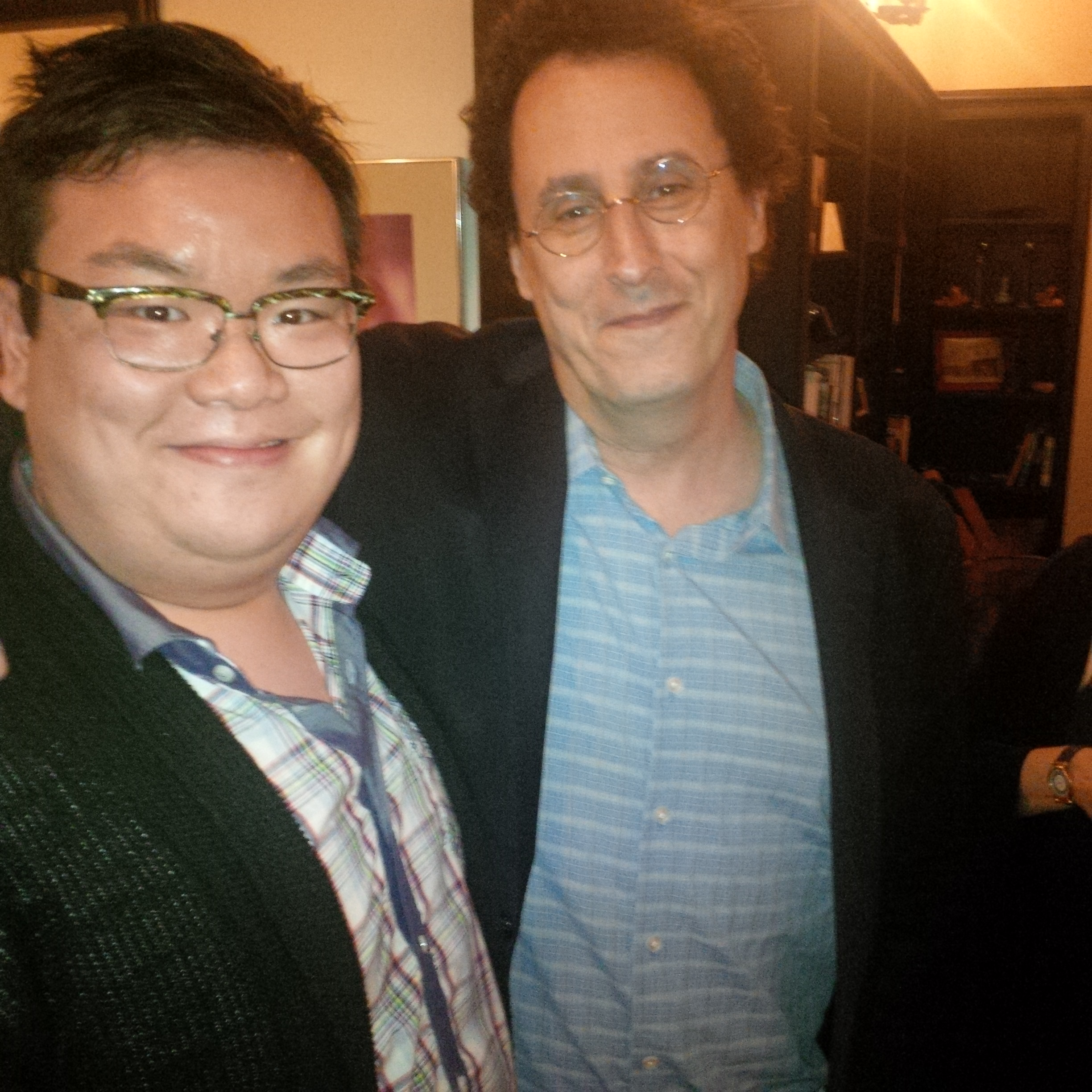 With Playwright Tony Kushner after Passover Dinner at Berkeley Rep. (2014)