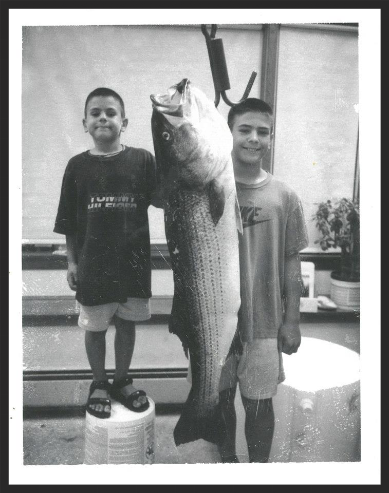 """51"""" Inch Striper Caught in the Merrimack by Nick at age 7"""