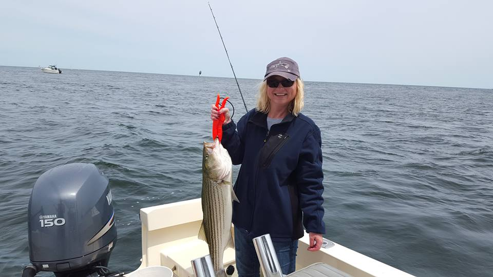 """Maria does it again! Nice 35"""" on the last drift. If anyone finds a cell phone on Joppa Flats, it has plenty of pictures from this trip! Sorry Maria, I had too!"""
