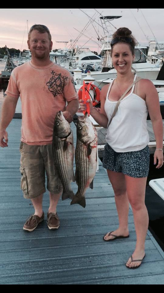 Nick and Krysta show off their catch!