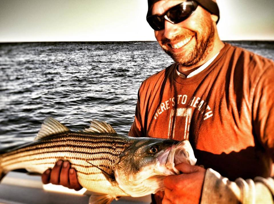 First striped bass for Tony!