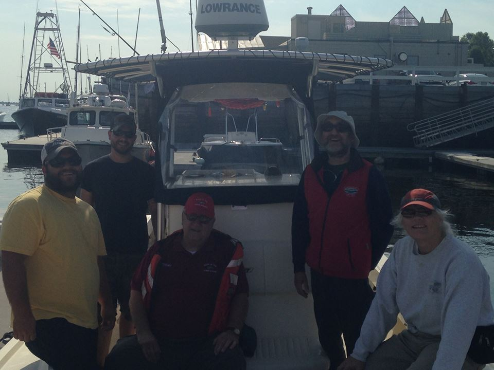 The Back in the Maine Stream Crew for the day. Went shark fishing and caught 7 in just 3 hours of fishing!