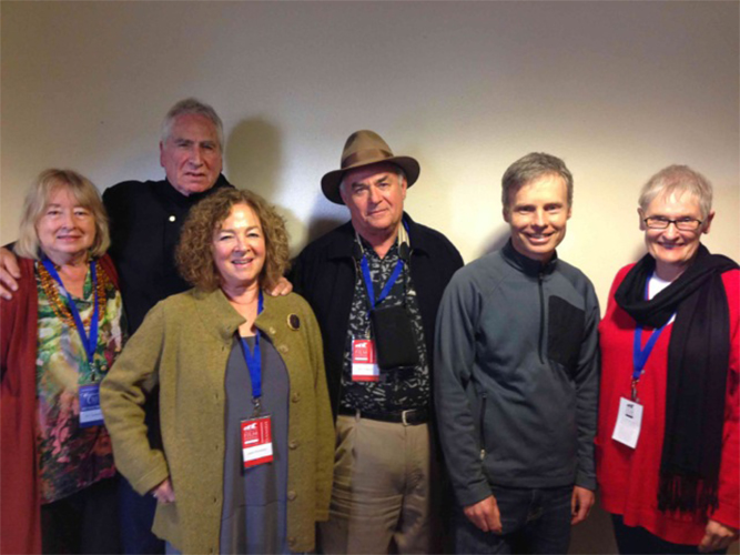 Left to right: Pat Ferrero, Jerry Barrish, Janis Plotkin, William Farley, Richard Levien and Nancy Russell