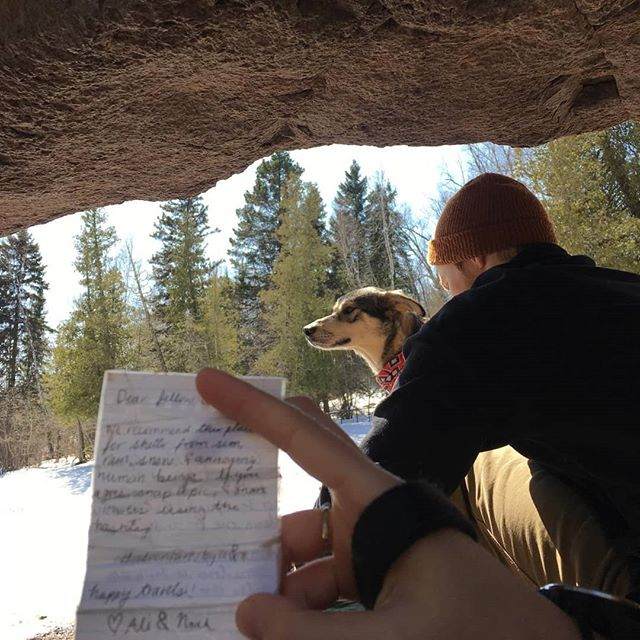 Found a neat note, created a boulder problem, and enjoyed the whole day with two great gals :) #adventuresbyaandn
