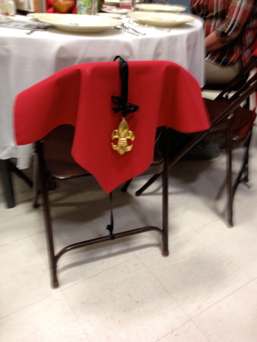 Even the chairs were decorated!