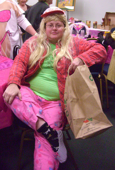 This girl is from Virginia. She was hilarious. I really enjoyed her. She dressed as Homeless Barbie. :)