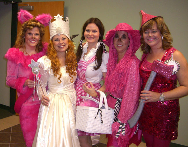These girls were from the book club in Katy, Texas (where my son just moved to!). Aren't they cute in all pink!