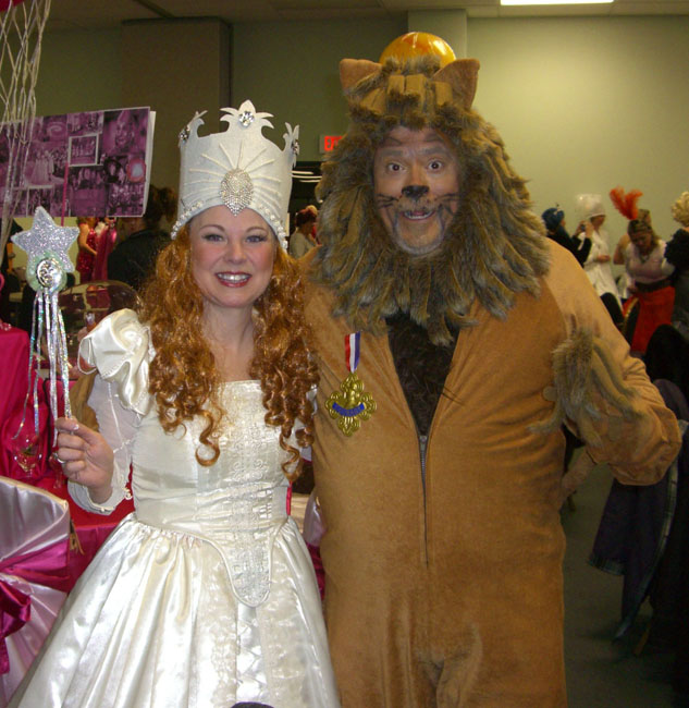 Here's another lion. He's the husband of one of the Jefferson, Texas book club members. :)