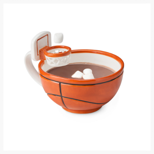 Ah, yes, the basketball mug complete with hoop for marshmallow dunking! Funny and clever, but I doubt he'd actually use it more than a few times. Still, it was invented by a little boy who is 8 yo and has dyslexia, so I'm tempted to get it anyway. What do you think?