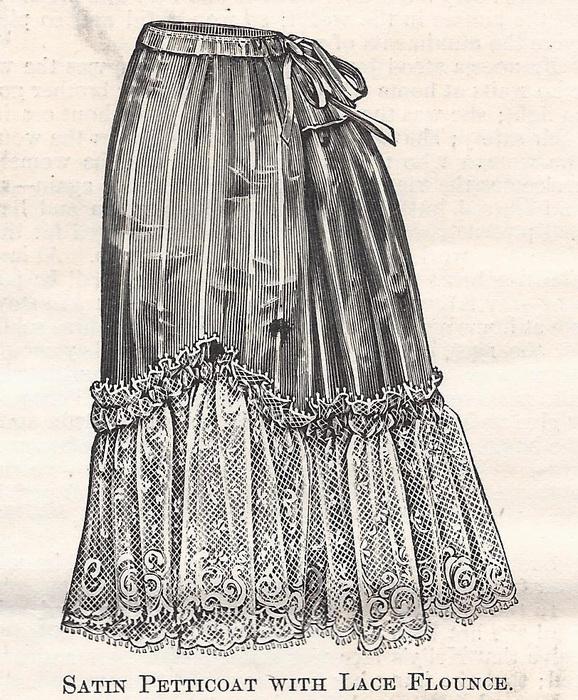 Satin and lace petticoat