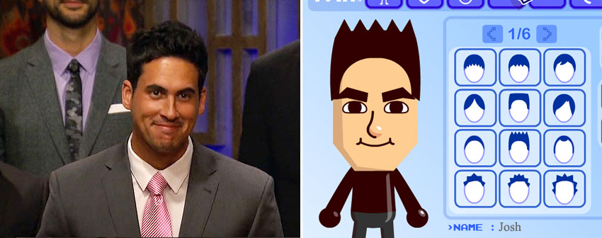 I made Josh his very own Mii.