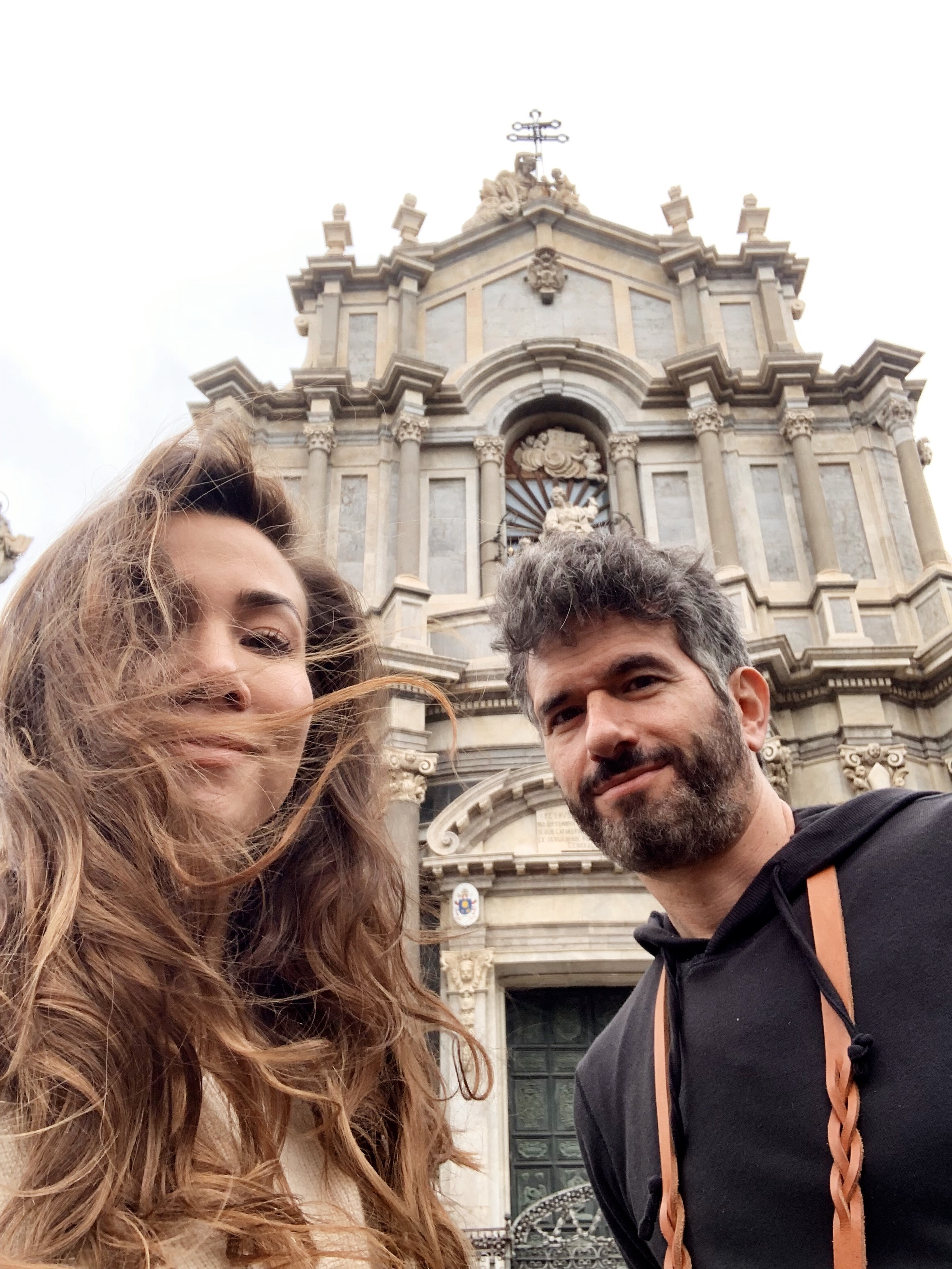 When the cathedral isn't open yet… you take a selfie in front of it. :)