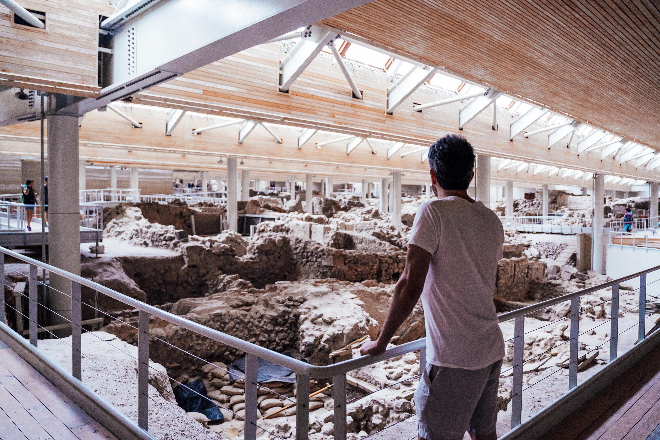 The  prehistoric town of Akrotiri