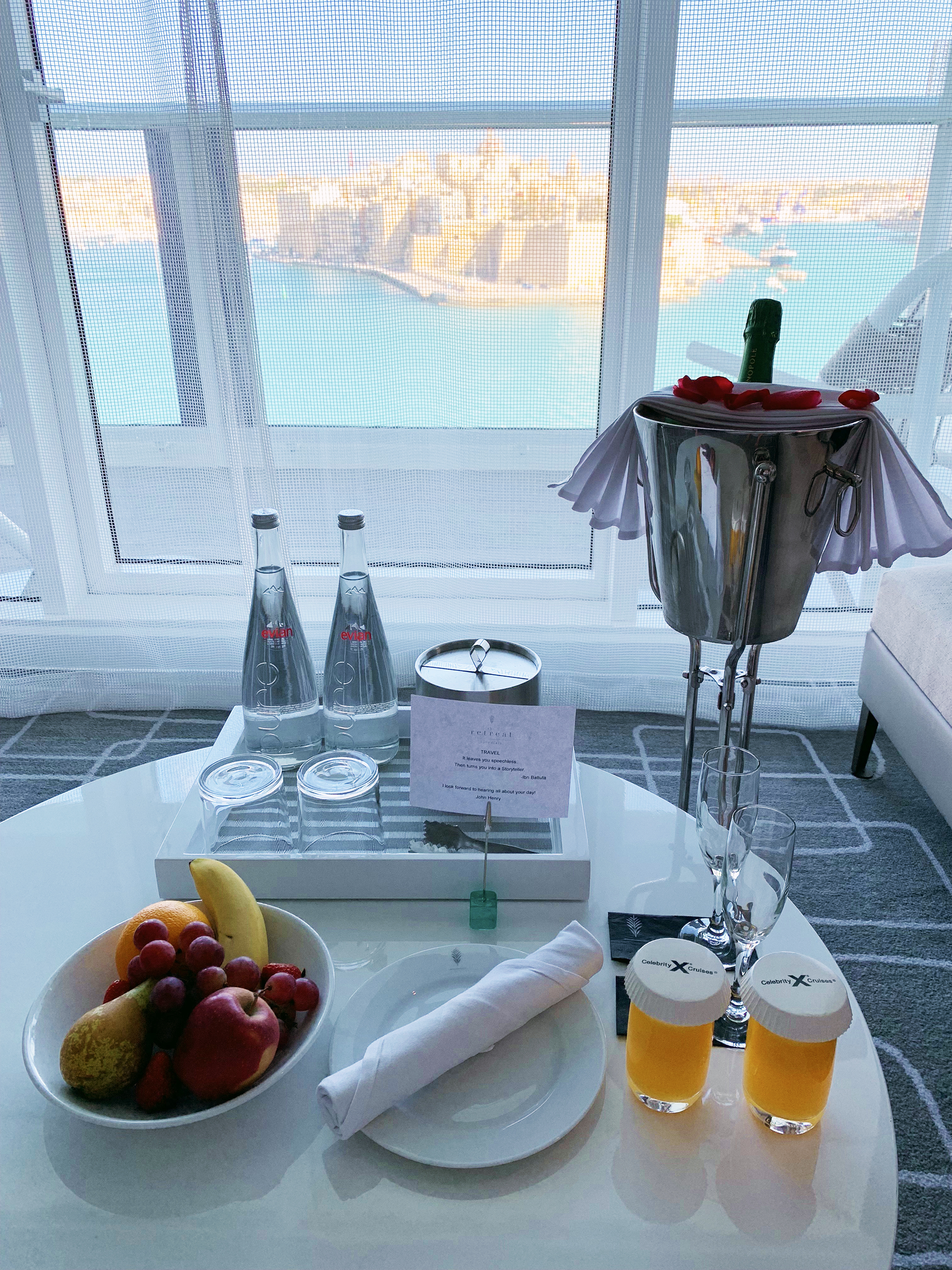 Daily touches from our butler, John Henry. Oh, and the OJ was fresh-squeezed!
