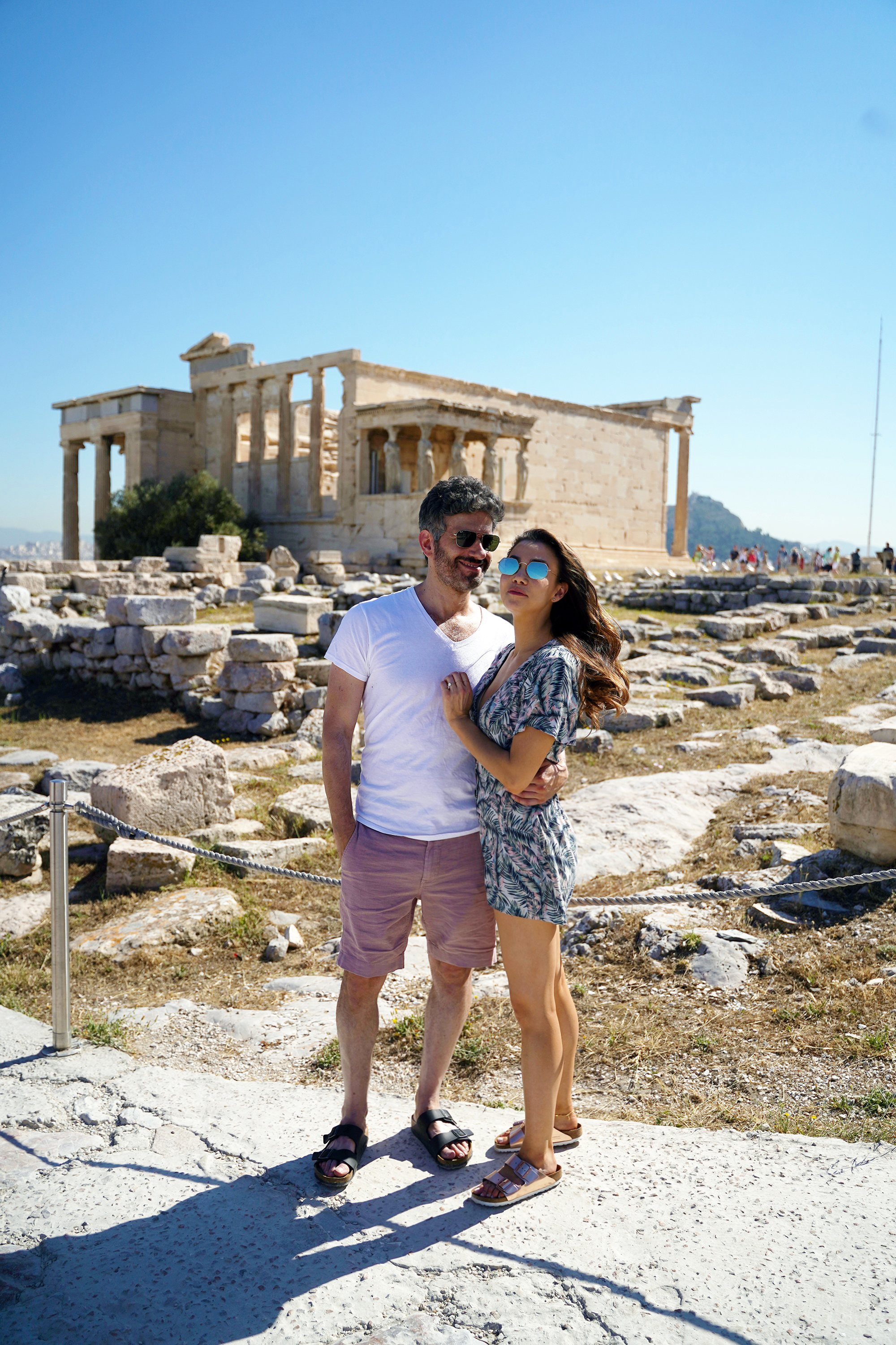 Requisite couple photo at the Temple of Athena Nike