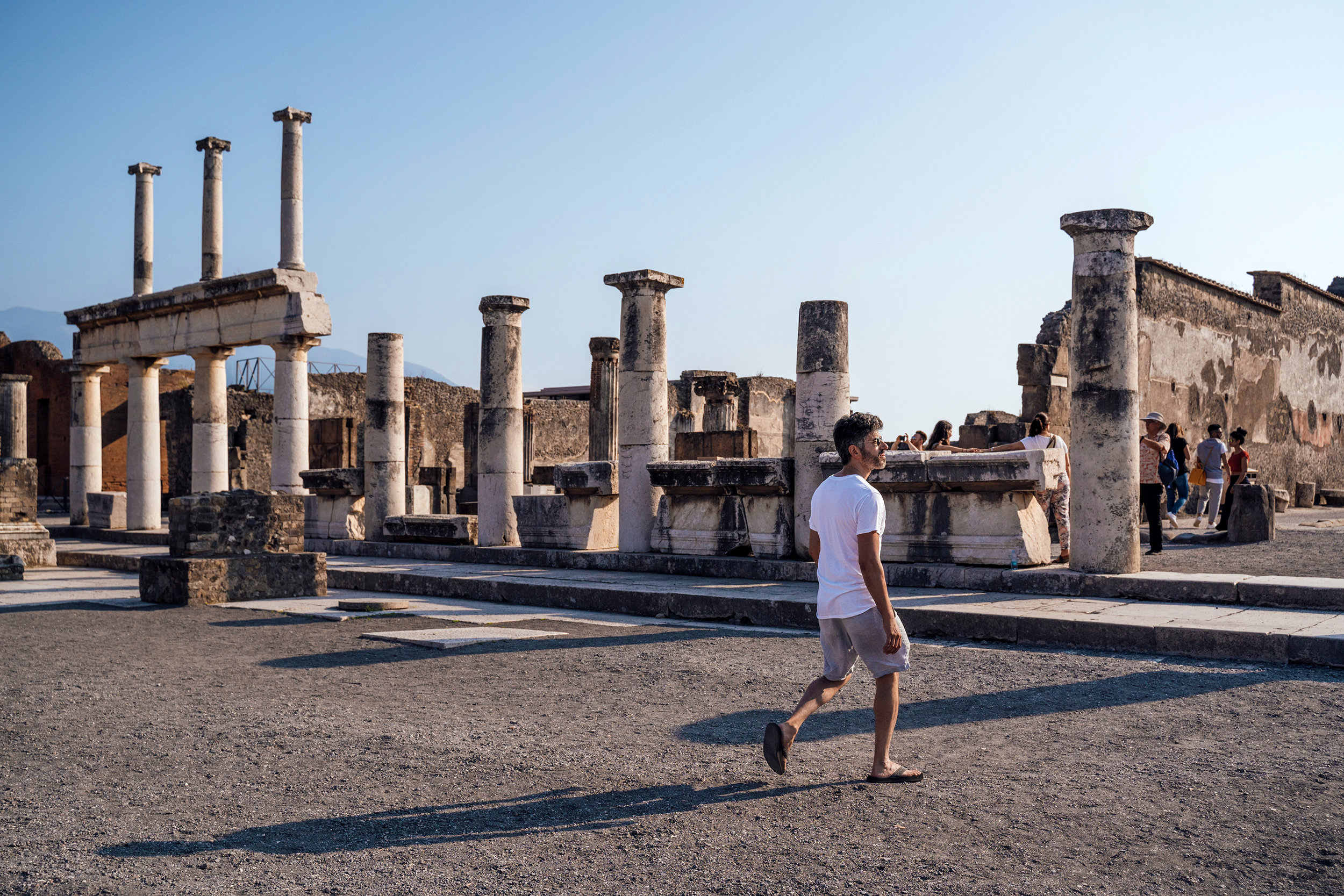 We fast-walked through all of Pompeii