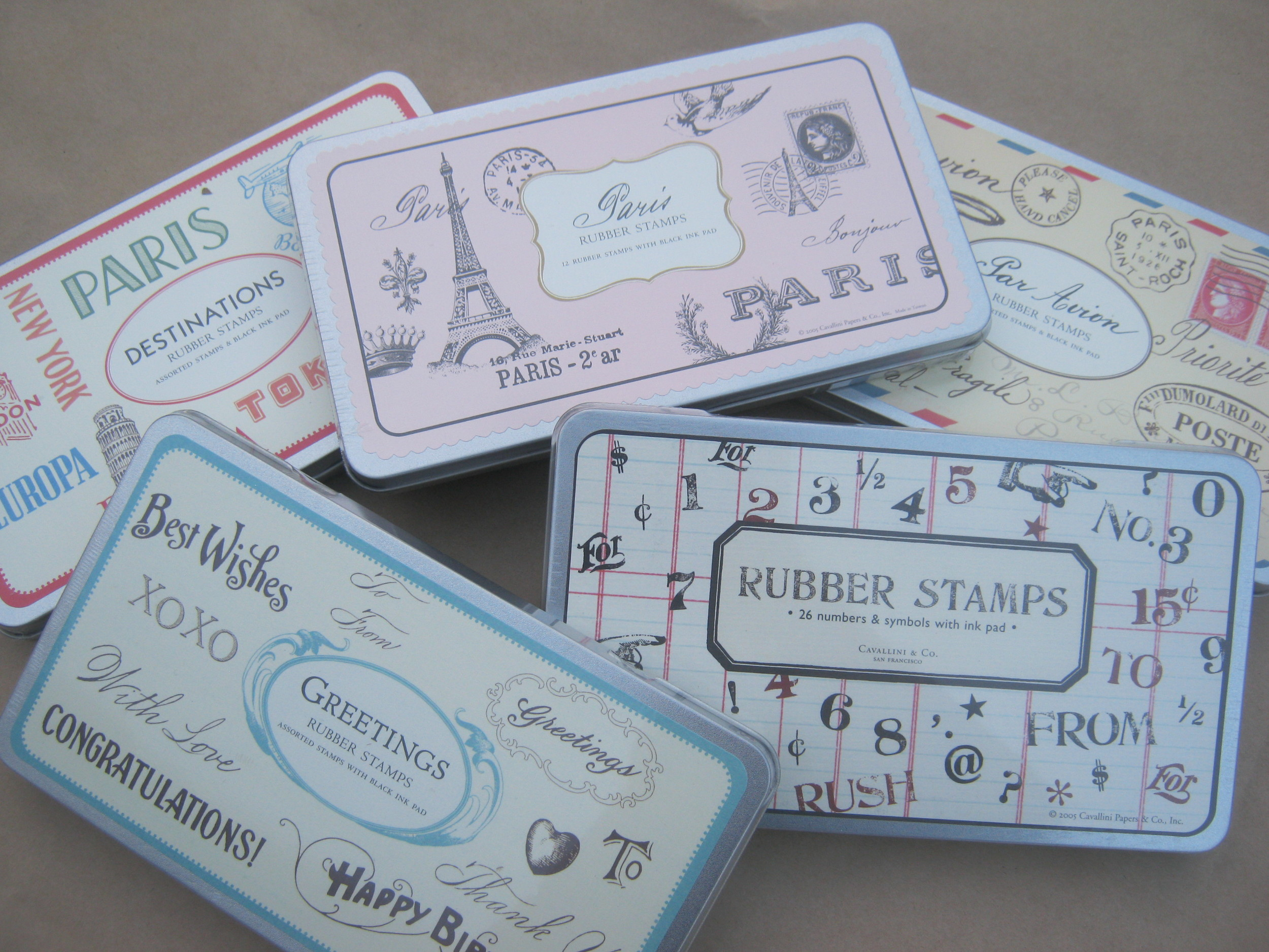 more stamp sets... Paris  Destinations  Par Avion  Numbers and Symbols  Greetings
