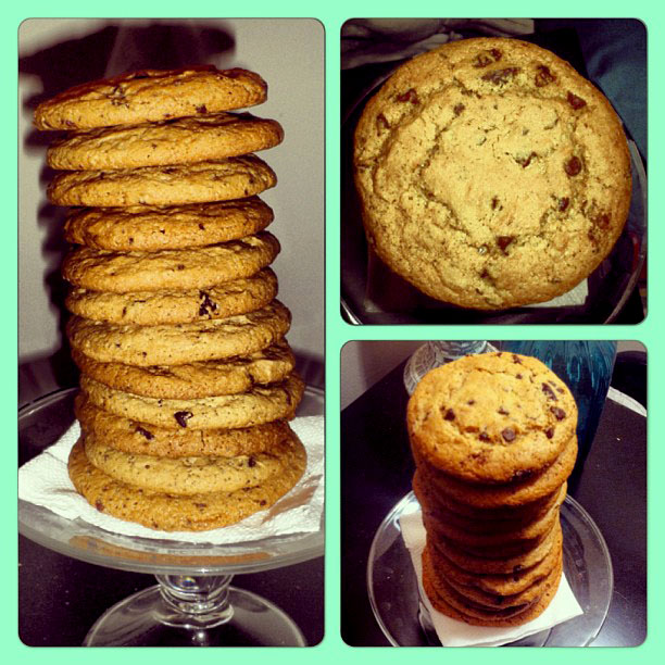 It's okay to eat tall towers of these AMAZING chocolate chip cookies. I won't tell ;)
