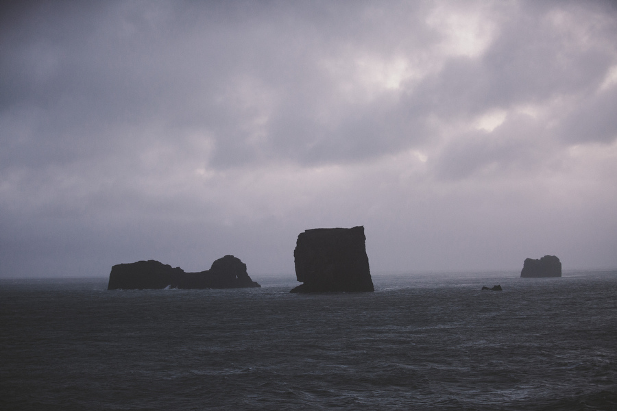 The small peninsula, or promontory, Dyrhólaey is located on the south coast of Iceland, not far from the village Vík. It was formerly an island of volcanic origin, which is also known by the Icelandic word eyja meaning island