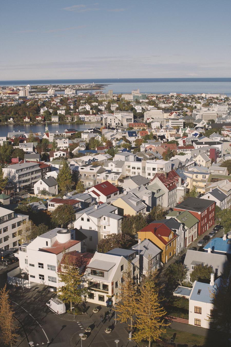 Reykjavík, Iceland at 73 meters high.