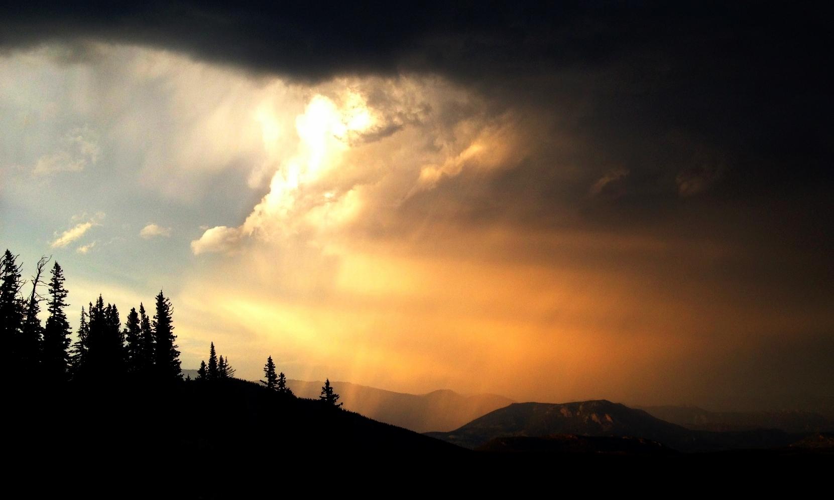 A storm moves in near Bear Lake.
